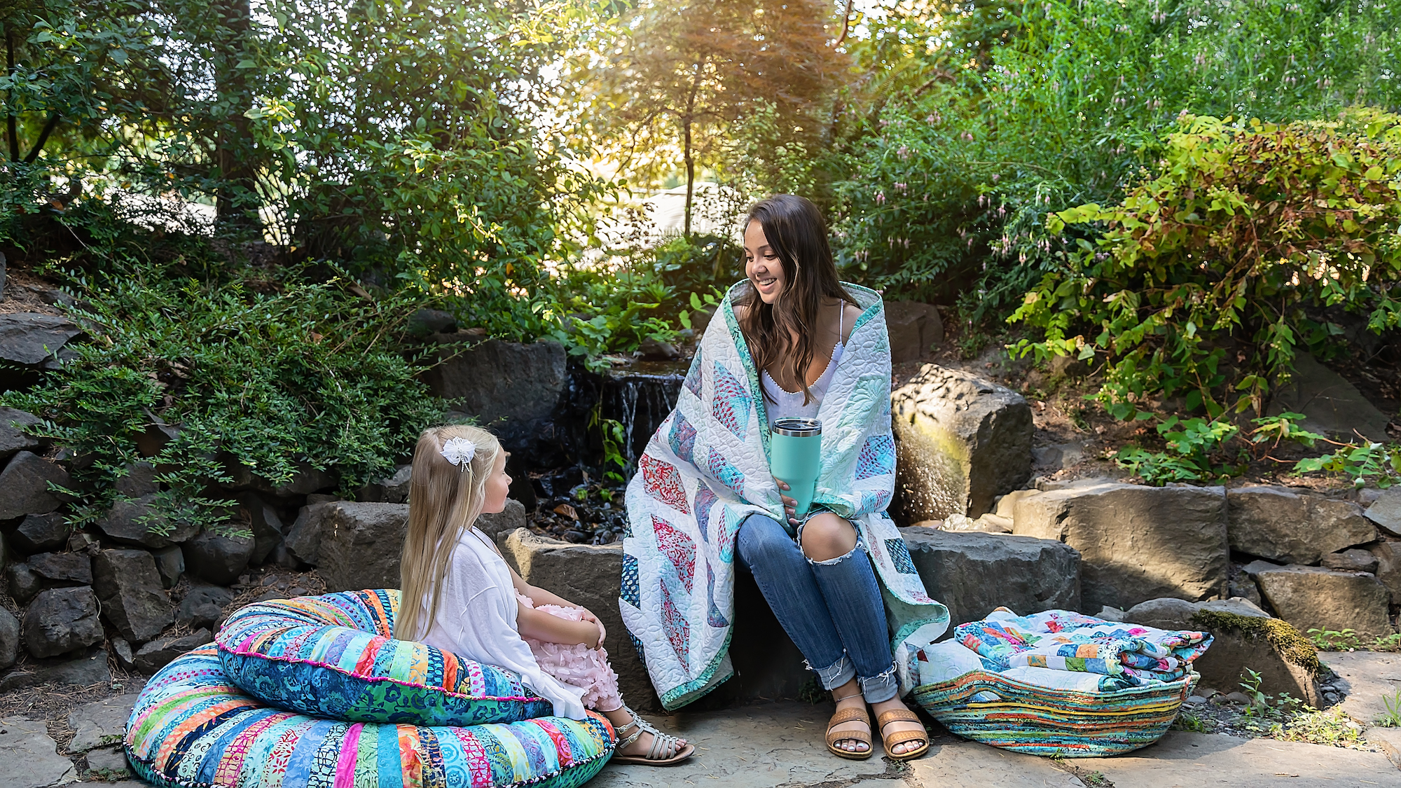 batik pillows and quilts beautiful collection outdoors