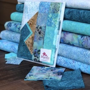 New Precut Batik Fabrics for Wholesale - Teal Building Blocks Collection